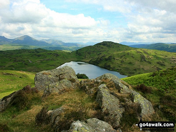 Beacon (Blawith Fells) and Beacon Tarn from Wool Knott