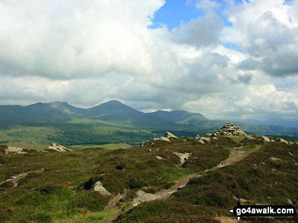 The Coniston Range from Beacon (Blawith Fells)