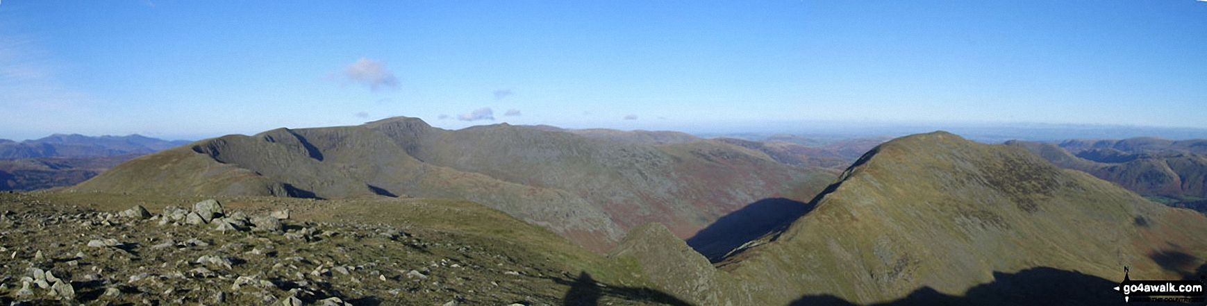 The Helvellyn Ridge and St Sunday Crag from Fairfield