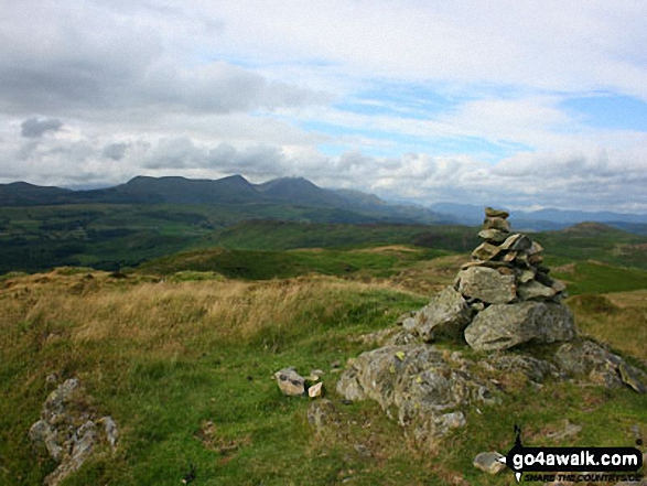 The Consiton Fells from the summit of Blawith Knott