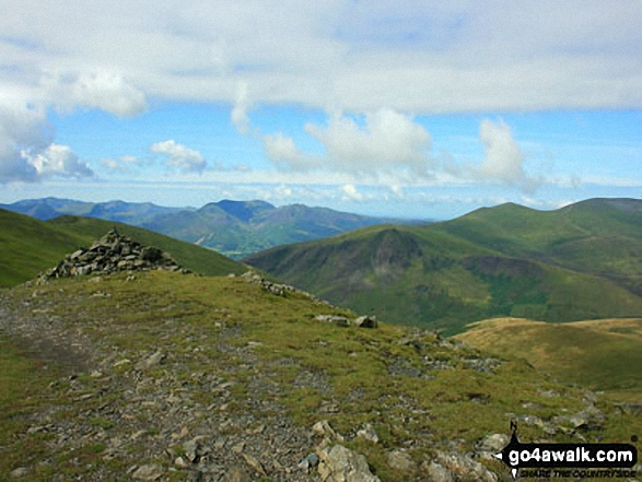 Lonscale Fell, Burnt Horse and Skiddaw Little Man from Atkinson Pike