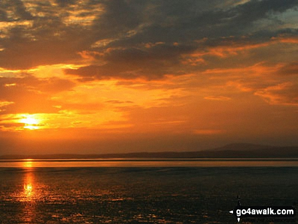 Morecambe Bay sunset featuring Black Combe (right)