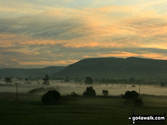 Daybreak over Farleton Fell from near Milnthorpe