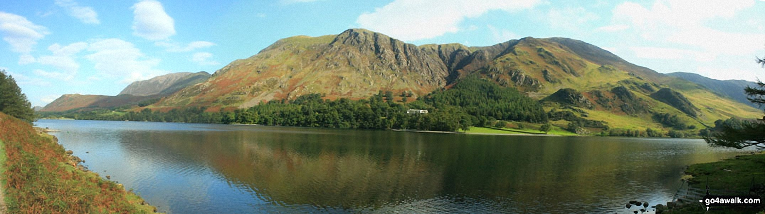 Walk c219 A Circuit of Buttermere from Buttermere - High Snockrigg and Robinson across Buttermere