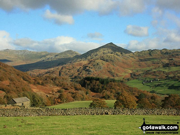 Caw (Dunnerdale Fells) from Seathwaite (Duddon Valley)