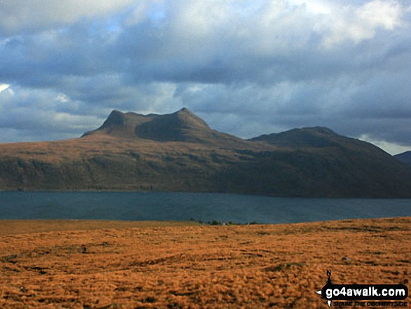 Beinn Ghobhlach across Little Loch Broom from near Badcaul