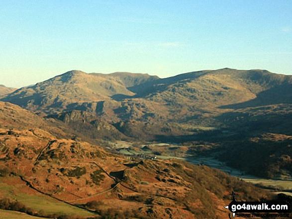 Grey Friar and the Seathwaite Fells over Dunnerdale from Hesk Fell