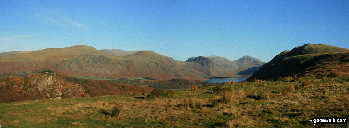 Seatallan, Great Scoat Fell, Little Scoat Fell, Red Pike (Wasdale), Yewbarrow, Kirk Fell, Great Gable and Whin Rigg from Irton Pike