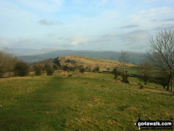 Cunswick Fell. Walk route map c190 Scout Scar from Kendal photo