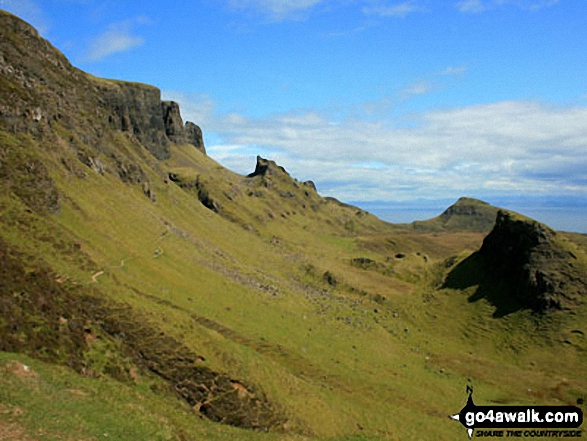 The Quiraing on the lower slopes of Meall na Suiramach