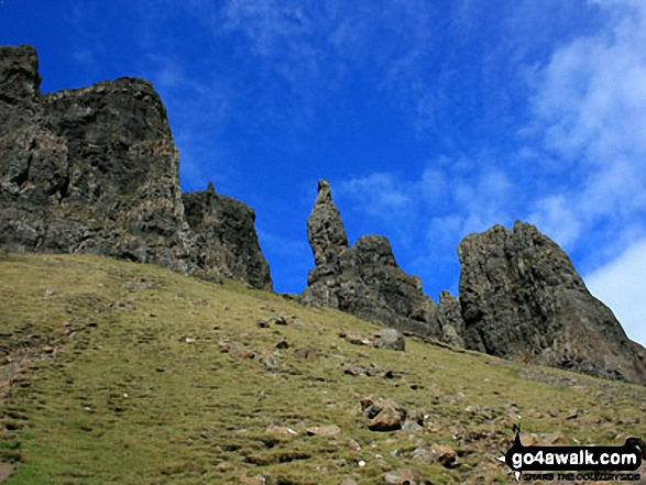 The Needle on The Quiraing on the lower slopes of Meall na Suiramach