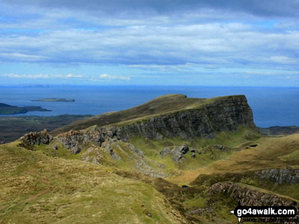 Sron Vourlinn from The Quiraing on the lower slopes of Meall na Suiramach