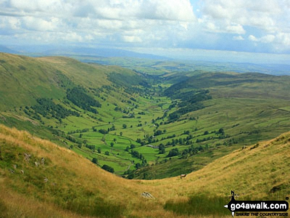 Longsleddale from the summit of Goat Scar