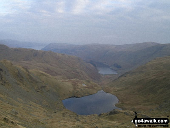 Walk c251 The Mardale Head Horizon from Mardale Head - Small Water and Haweswater from near Mardale Ill Bell summit