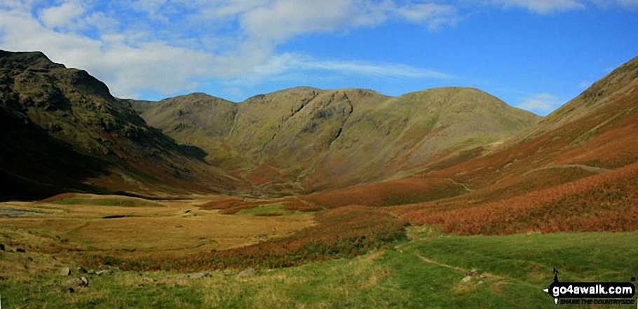 Panoramic Walk Photo: Black Crag (Pillar), Wind Gap, Pillar and Looking Stead (Pillar) above Mosedale from Wasdale Head  The Lake District National Park Cumbria England by Andy Malcolm (241)