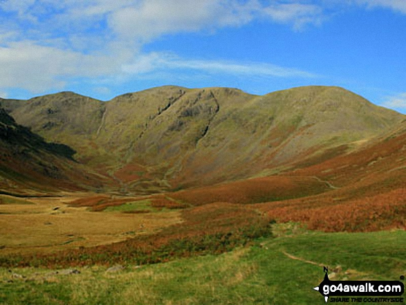 Black Grag (Pillar), Wind Gap, Pillar and Looking Stead (Pillar) above Mosedale from Wasdale Head