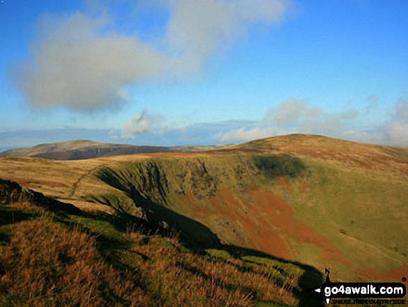 Bowscale Fell across the summit rim of Bannerdale Crags