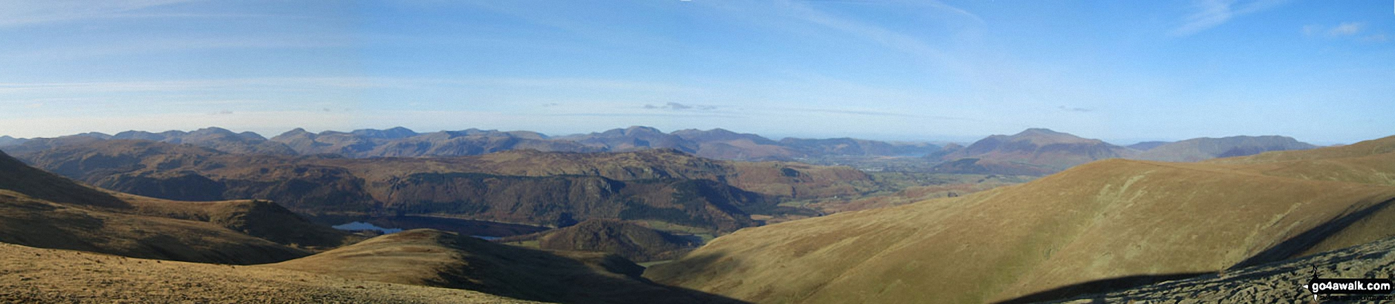 *Panorama looking North West from Stybarrow Dodd