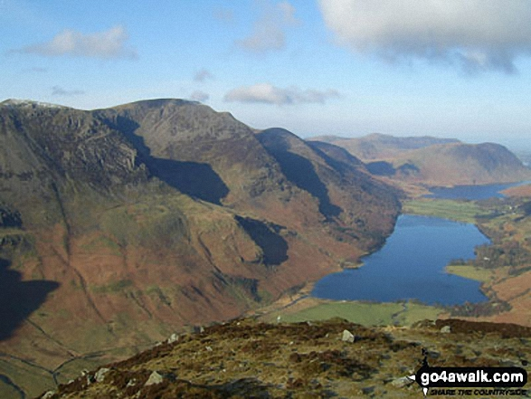 The High Stile Ridge and Buttermere from Fleetwith Pike