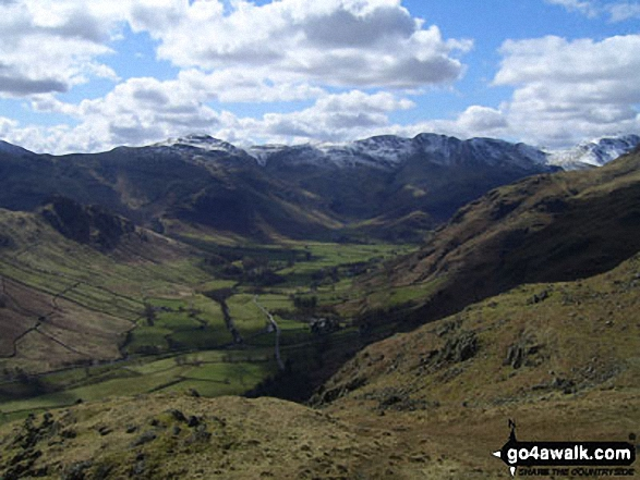Sunburst on Great Langdale from near Blea Rigg