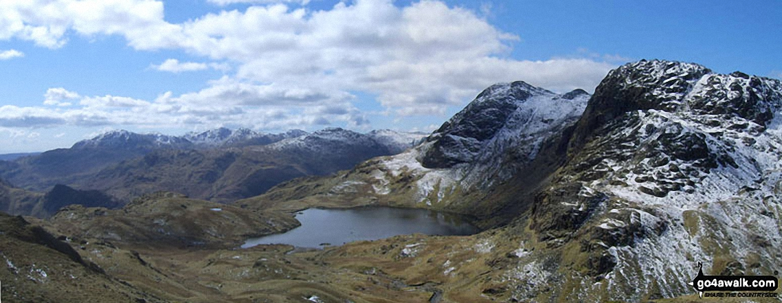 Stickle Tarn, Harrison Stickle and Pavey Ark from near Blea Rigg