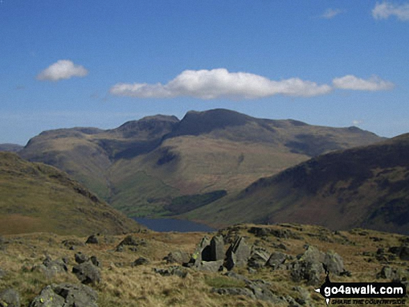 Scafell Pike, Mickledore and Sca Fell from Buckbarrow summit