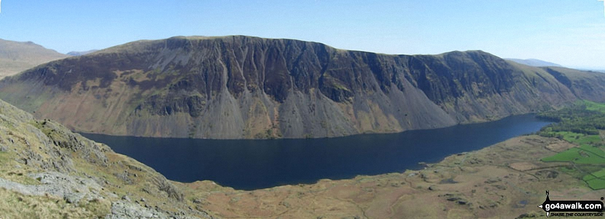 Ilgill Head, Whin Rigg and The Wast Water Screes from below Buckbarrow