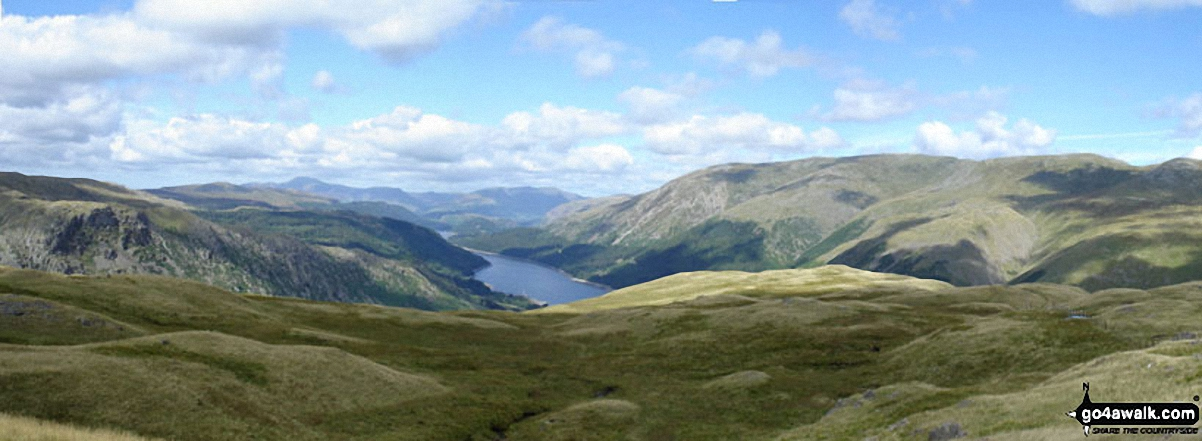 Thirlmere from the summit of Steel Fell (Dead Pike)