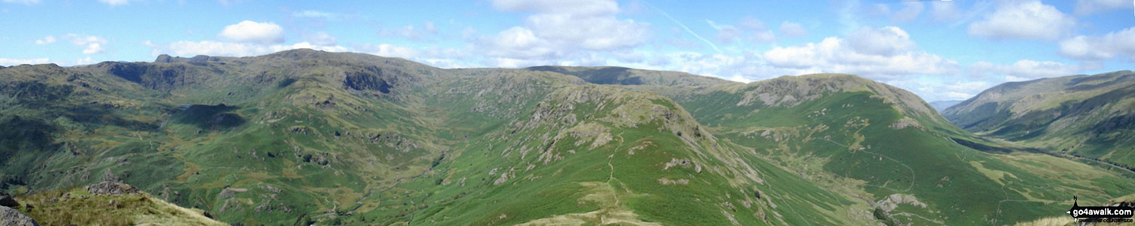 *Grasmere Common, Easedale and The Greenburn Horseshoe from Helm Crag