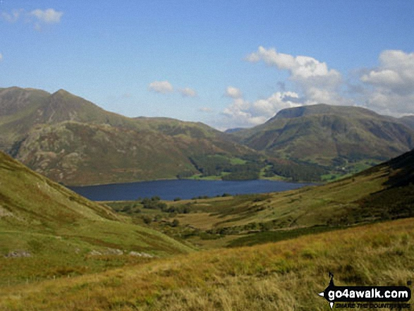 Walk c219 A Circuit of Buttermere from Buttermere - Crummock Water, Rannerdale Knotts and Robinson beyond from Black Beck
