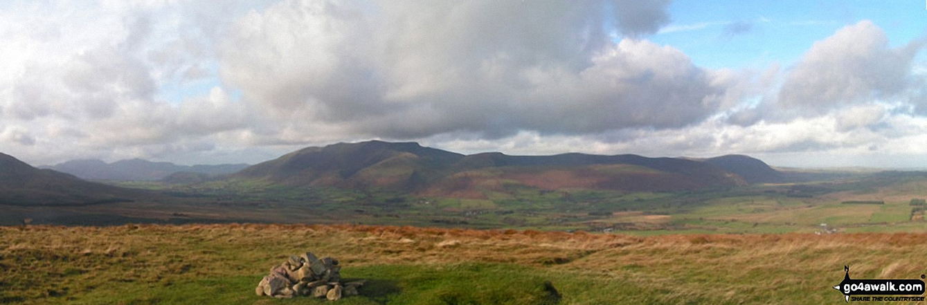*Blencathra and the Northern Fells from the summit of Great Mell Fell