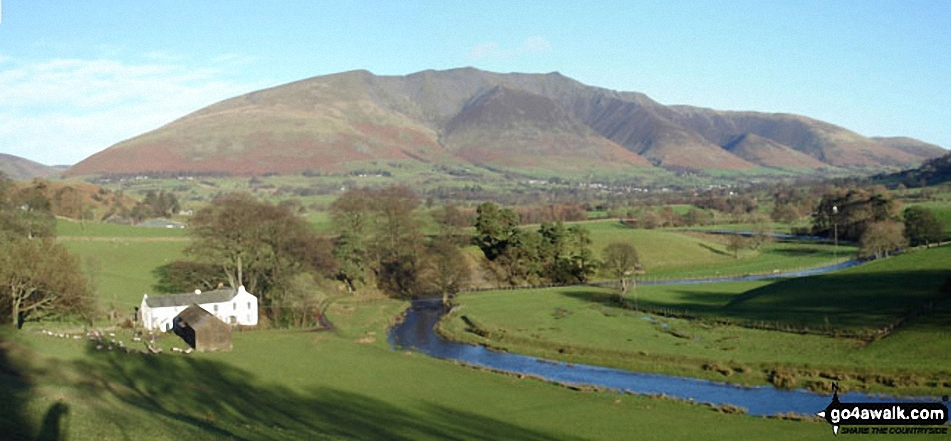 *Looking across St John's in the Vale to Blencathra