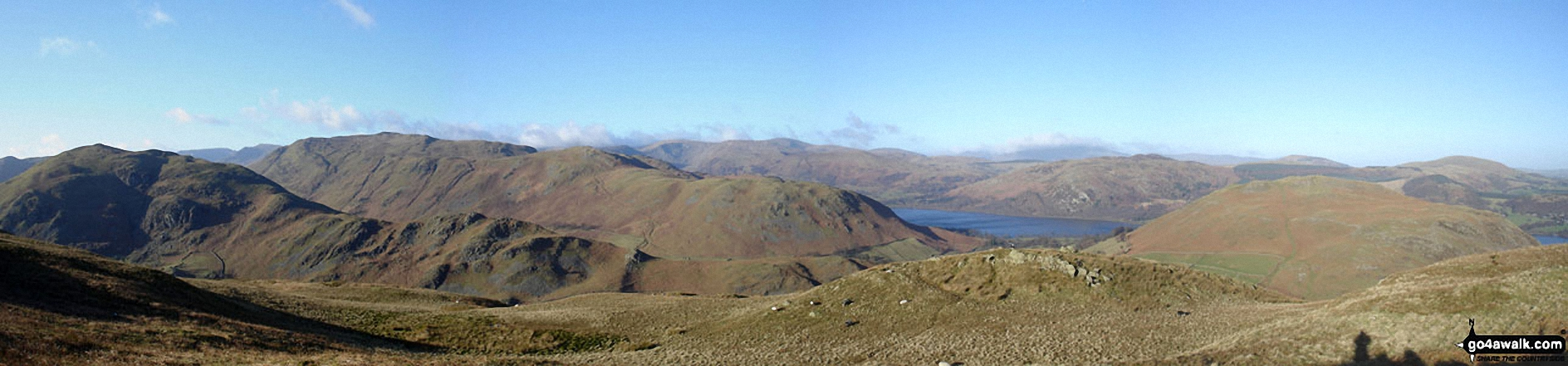 Beda Head (Beda Fell) with Place Fell beyond (left), Ullswater and Hallin Fell (right) from Steel Knotts (Pikeawassa)