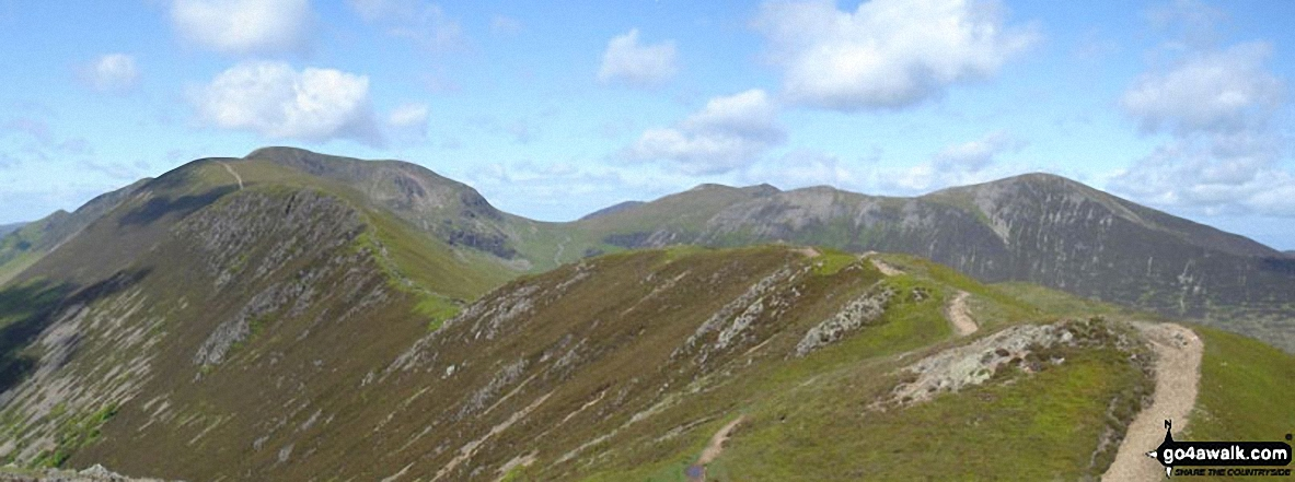 *Looking back along Scar Crags to Sail (Derwent Fells) and Crag Hill (Eel Crag) from Causey Pike