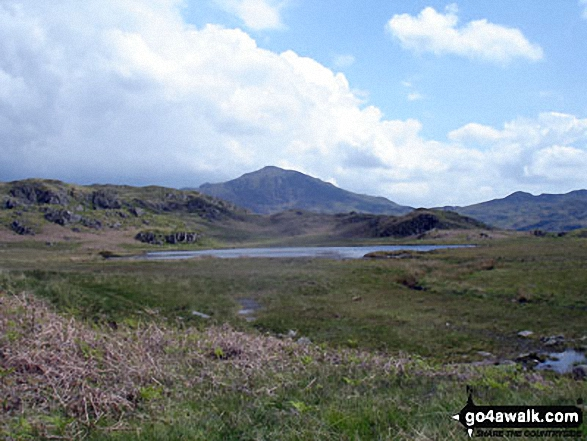 Walk c440 Whin Rigg, Illgill Head and Boat How from Miterdale Bridge - Eel Tarn taken en-route to Sca Fell from Eskdale