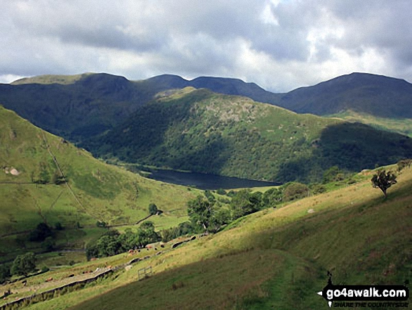 Walk c297 The Martindale Horseshoe from Howtown - Brothers Water from the path below Brock Crags