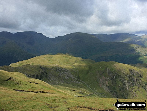 Brock Crags from near the summit of Rest Dodd