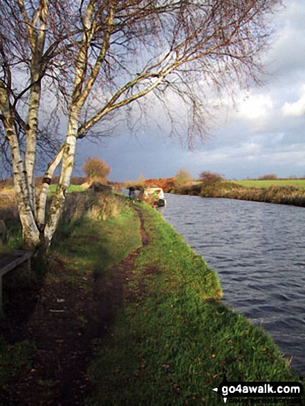 The Bridgewater Canal nr Dunham Town. Walk route map ch102 Dunham Massey and The Bridgewater Canal from Lymm photo