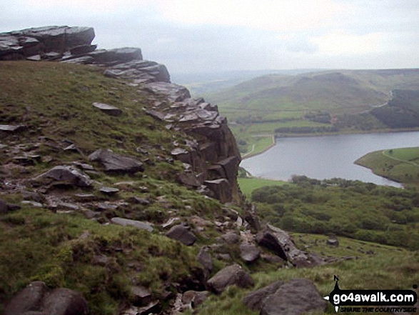 Dick Hill above Dovestone Reservoir from Stable Stones Brow (Hoarstone Edge)