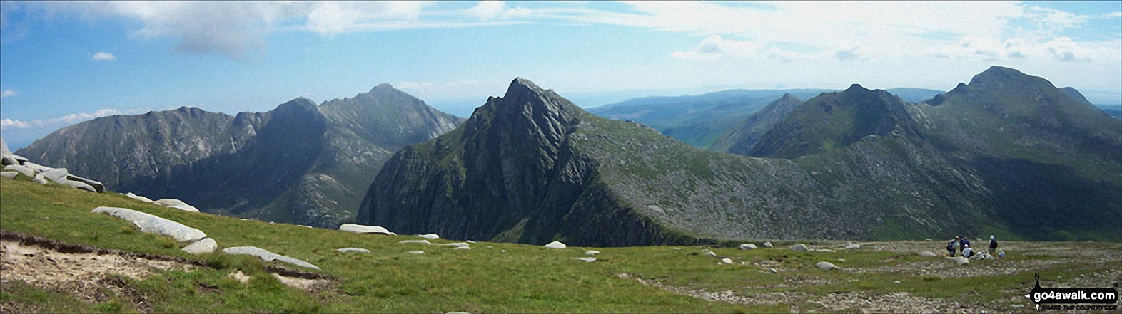 The view south from Caisteal Abhail towards Cir Mhor