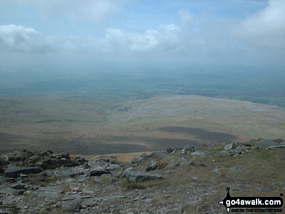 Views from Ingleborough. Walk route map ny101 The Yorkshire Three Peaks from Horton in Ribblesdale (New 2013 Route) photo