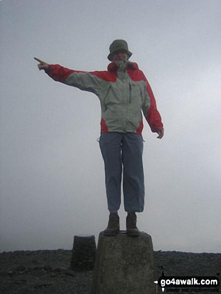 on Skiddaw walk The Lake District Cumbria England walks