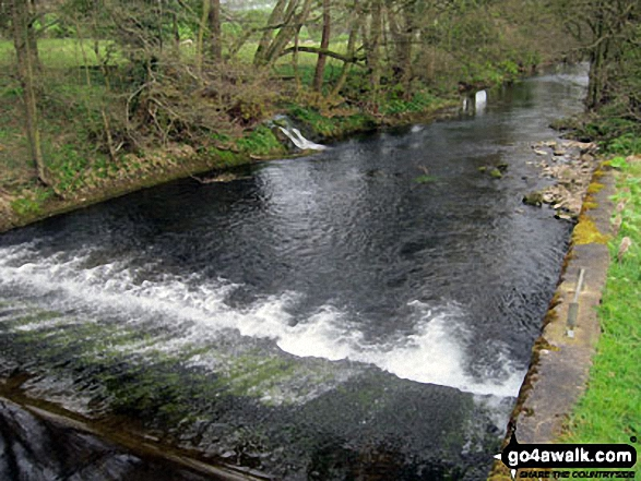 Weir on The Lower River Dove near Coldwall Bridge, Thorpe, Dove Dale