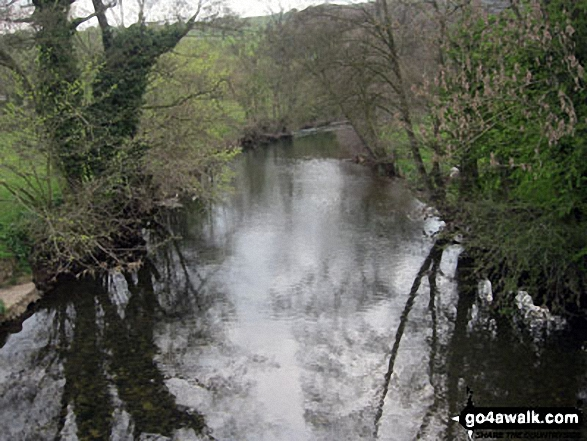 The Lower River Dove from Ilam Bridge, Ilam, Dove Dale. Walk route map s180 Bunster Hill via Dove Dale from Milldale photo