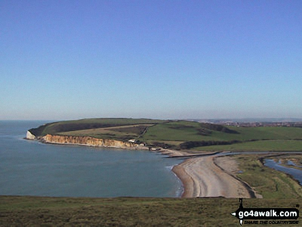 Cuckmere Haven from The Seven Sisters Chalk Cliffs