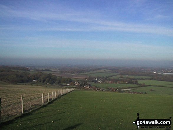 Clayton from Jack and Jill Windmills. Walk route map es145 Jack and Jill from Ditchling Beacon photo