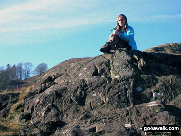 My daughter enjoying the view near Aira Force