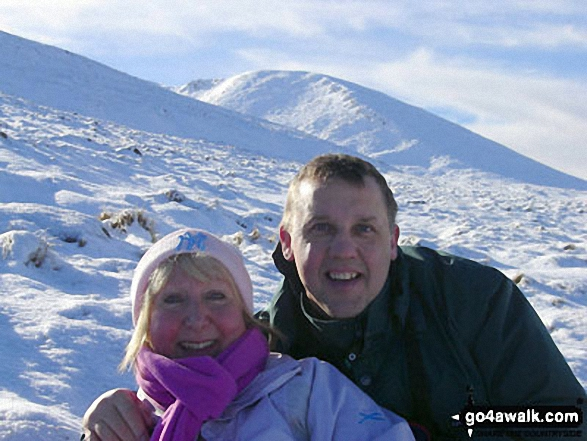 On the way up Aonach Mor (Mamores)