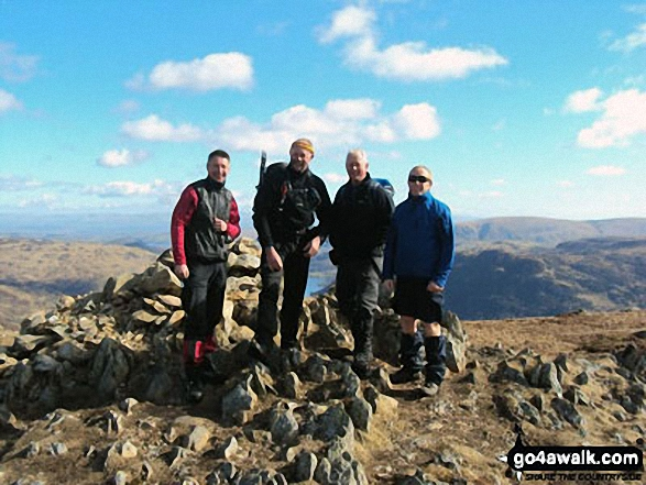 Walk c286 The Glenridding Skyline from Glenridding - Ant, John, Ken & Jim on top of Sheffield Pike last year