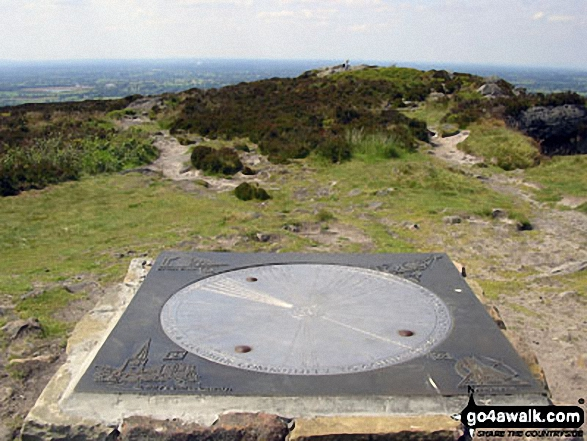 Information Wheel on the summit of The Cloud (Bosley Cloud)